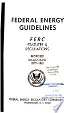 Federal Energy Guidelines