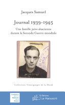 Pdf Journal 1939-1945. Une famille juive alsacienne durant la Seconde Guerre mondiale Telecharger