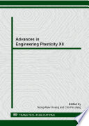Advances In Engineering Plasticity Xii Book PDF