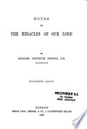 Notes on the Miracles of Our Lord Book