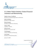 U  S  Motor Vehicle Industry