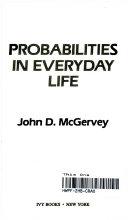 Pdf Probabilities in Everyday Life