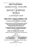 Encyclopaedia of Superstitions  Folklore  and the Occult Sciences of the World