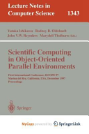 Scientific Computing in Object Oriented Parallel Environments