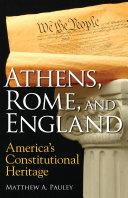 Athens  Rome  and England