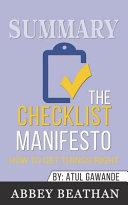 Summary  the Checklist Manifesto
