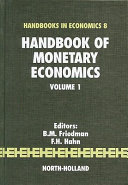 Cover of Handbook of monetary economics