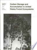 Carbon Storage and Accumulation in United States Forest Ecosystems Book