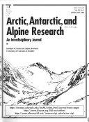 Arctic  Antarctic  and Alpine Research