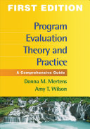 Program Evaluation Theory and Practice
