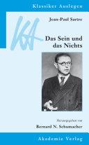 Jean-Paul Sartre: Das Sein und das Nichts Pdf/ePub eBook