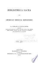 The Bibliotheca Sacra and American Biblical Repository