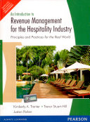 An Introduction to Revenue Management for the Hospitality Industry  Principles and Practices for the Real World Book