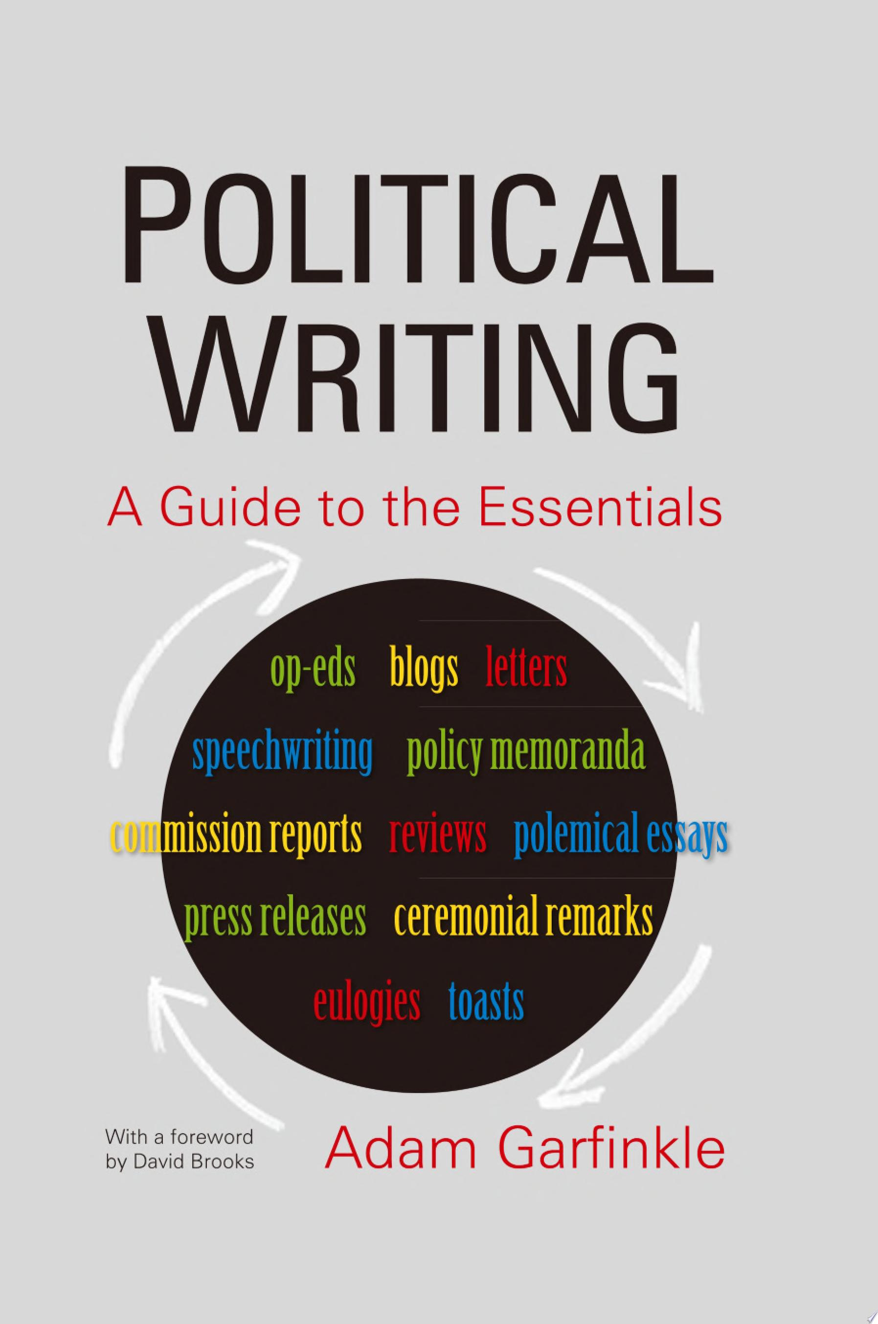 Political Writing  A Guide to the Essentials