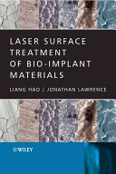 Laser Surface Treatment Of Bio Implant Materials Book PDF