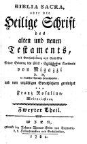 Biblia sacra, oder die heilige Schrift ... hrsg. ... von Franz Rosalino