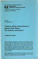 Memory  Myth and the Dream of Reason