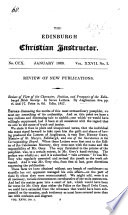 Review of View of the Character ... of the Edinburgh Bible Society. In seven letters by Anglicanus. [Extracted from the Edinburgh Christian Instructor.]