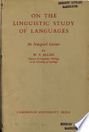 On the Linguistic Study of Languages