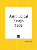 Astrological Essays  1909
