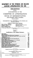 Department of the Interior and Related Agencies Appropriations for 1995  Justification of the budget estimates  Indian Health