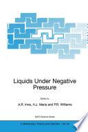 Liquids Under Negative Pressure