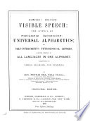 Visible Speech  the Science of Universal Alphabetics
