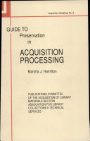 Guide to Preservation in Acquisition Processing