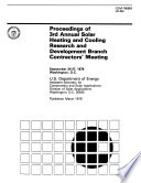 Proceedings of Annual Solar Heating and Cooling Research and Development Branch Contractors' Meeting