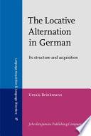 The Locative Alternation In German