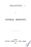 Dialogues on Universal Restitution Book PDF