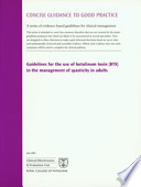 Guidelines for the Use of Botulinum Toxin  BTX  in the Management of Spasticity in Adults
