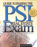 """Guide to Passing the PSI Real Estate Exam"" by Lawrence Sager, Joyce Bea Sterling"