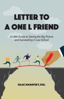 Letter to a One L Friend