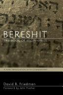 Bereshit, The Book of Beginnings Pdf/ePub eBook