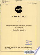 Radiation Exposure in Supersonic Transports Book