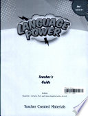 Language Power Grades 3 5 Level A Teacher S Guide Book