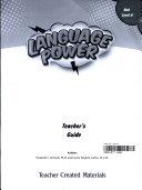Language Power  Grades 3 5 Level A Teacher s Guide