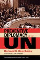 Preventive Diplomacy At The Un