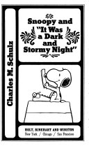 """Snoopy and """"It was a dark and stormy night"""""""
