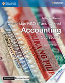 Cambridge Igcse and O Level Accounting Coursebook With Cambridge Elevate Enhanced Edition 2 Years