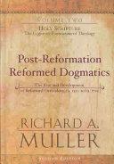 Post Reformation Reformed Dogmatics