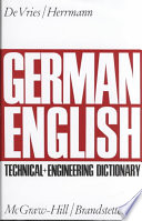 German-English Technical and Engineering Dictionary