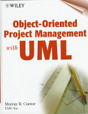Object Oriented Project Management with UML