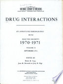 Drug Interactions  1970 1971
