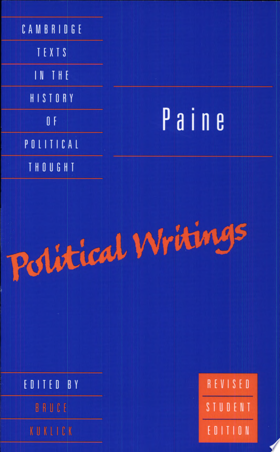 Paine: Political Writings