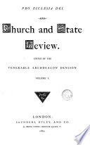 Church and State review  ed  by archdeacon Denison