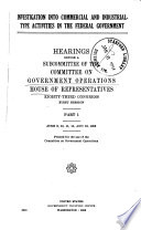 Investigation Into Commercial and Industrial-type Activities in the Federal Government