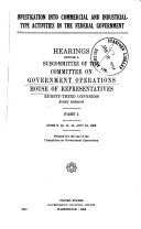 Investigation Into Commercial and Industrial type Activities in the Federal Government