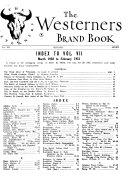 The Westerners Brandbook Book